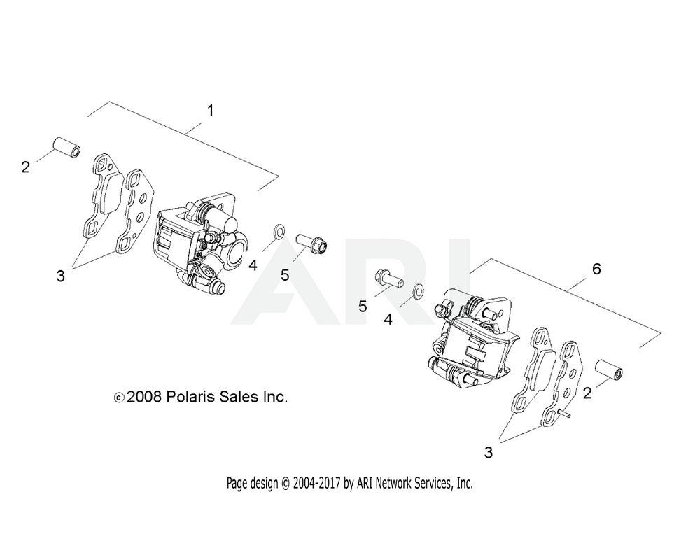 Polaris OEM 0454381 ASM., CALIPER, RH | [INCL. 2, 3]