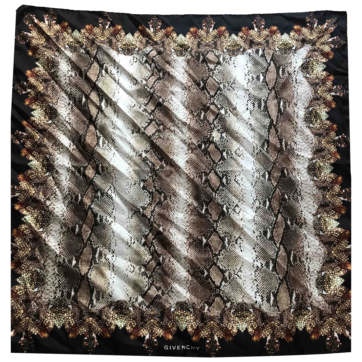 Givenchy \N Brown Silk scarf for Women \N