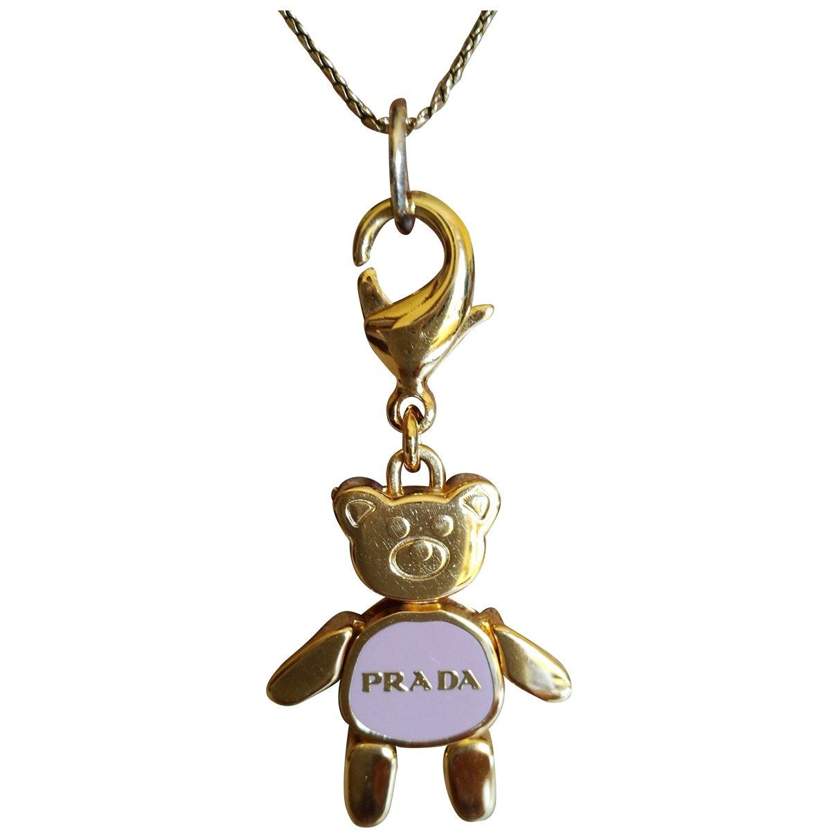 Prada \N Pink Steel pendant for Women \N