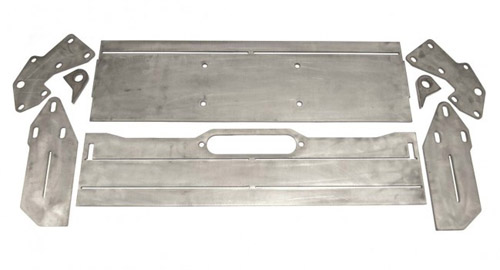 DirtBound Offroad 1014002 Jeep Cherokee DIY Front Winch Bumper 86-01 Jeep Cherokee XJ Bare Steel Fortress 4x4