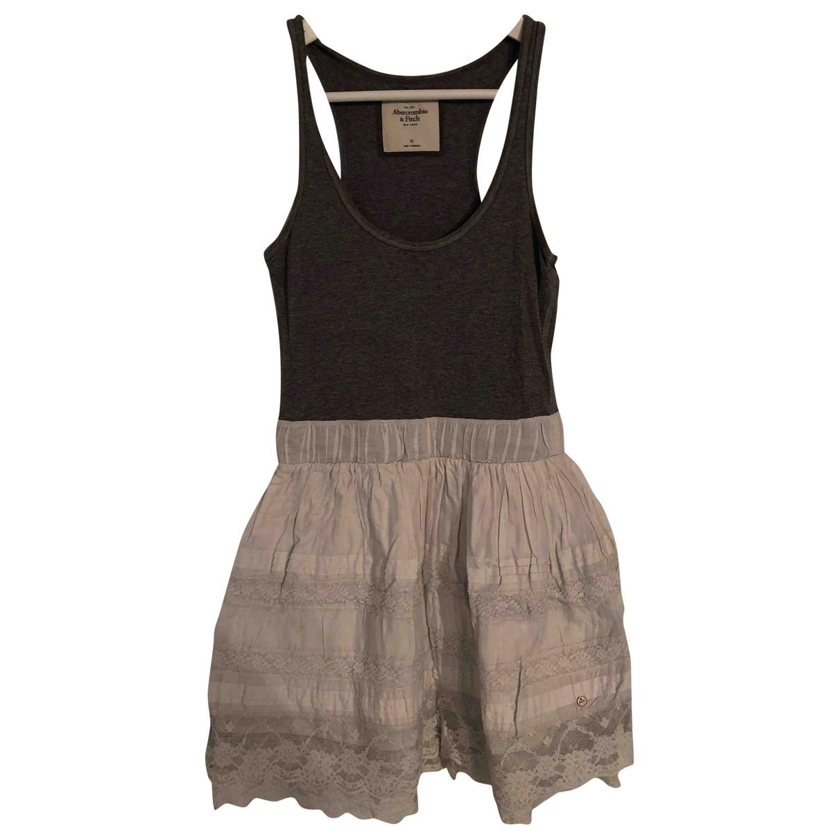 Abercrombie & Fitch \N Grey Cotton - elasthane dress for Women M International