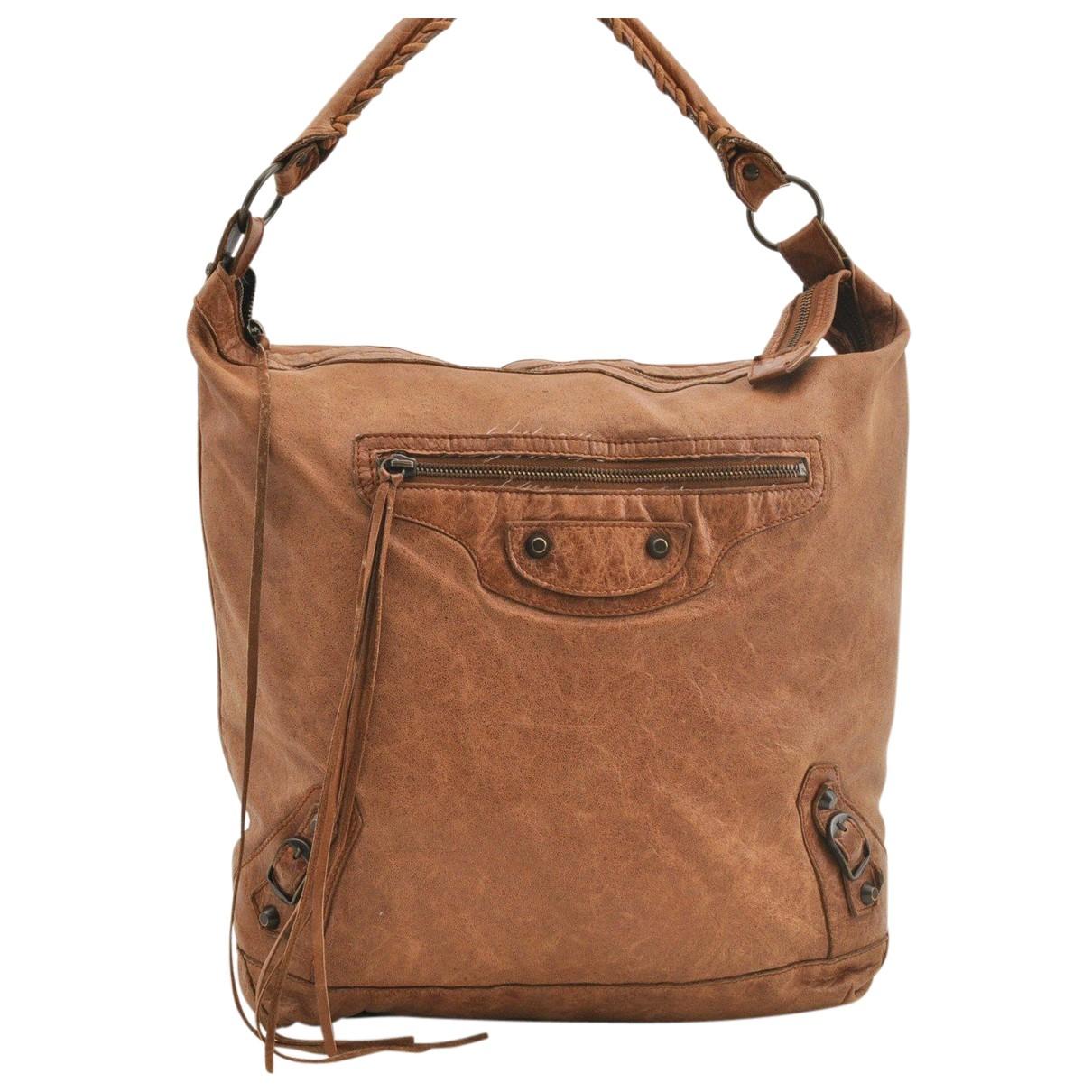 Balenciaga - Sac a main   pour femme en cuir - marron