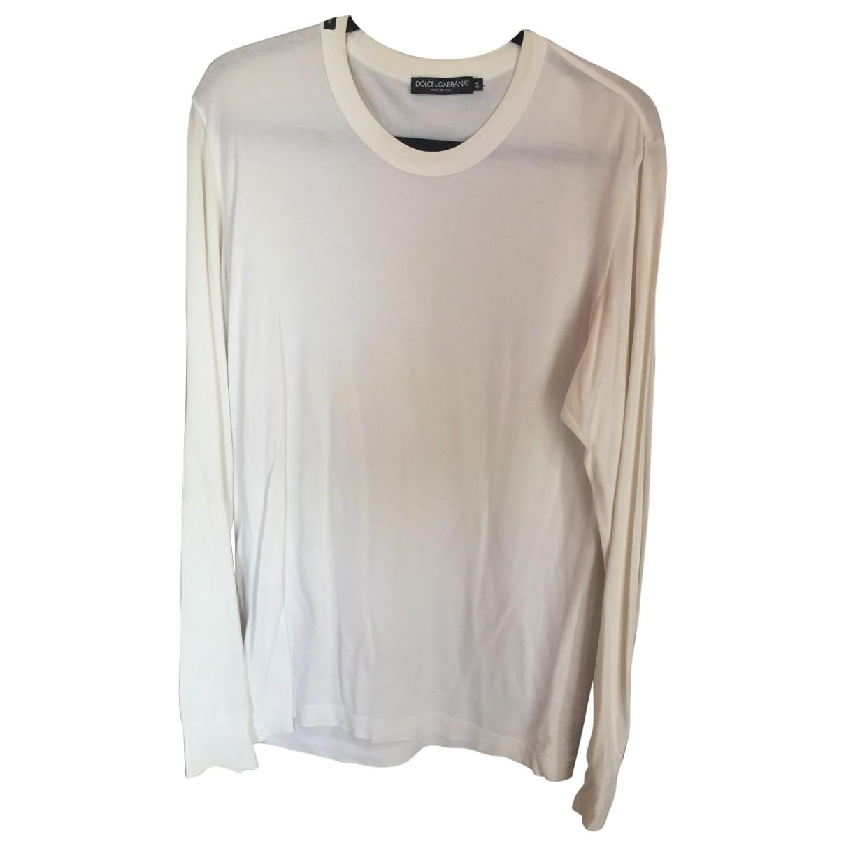 Dolce & Gabbana \N White Cotton T-shirts for Men XL International