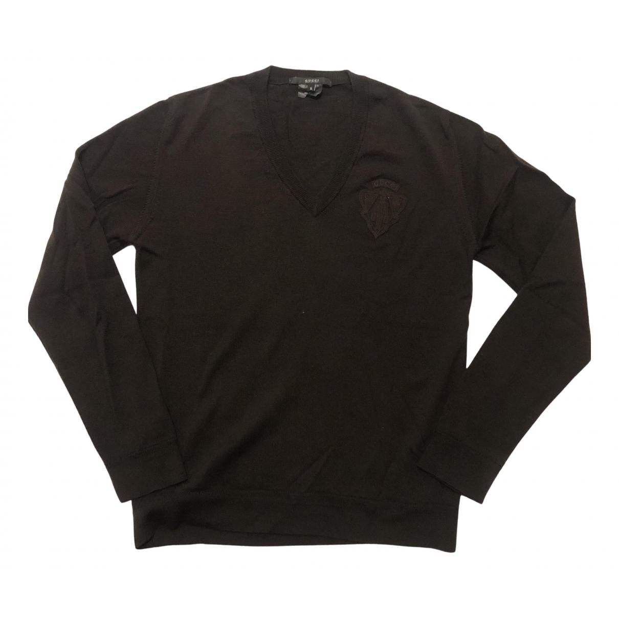 Gucci \N Pullover.Westen.Sweatshirts  in  Braun Wolle