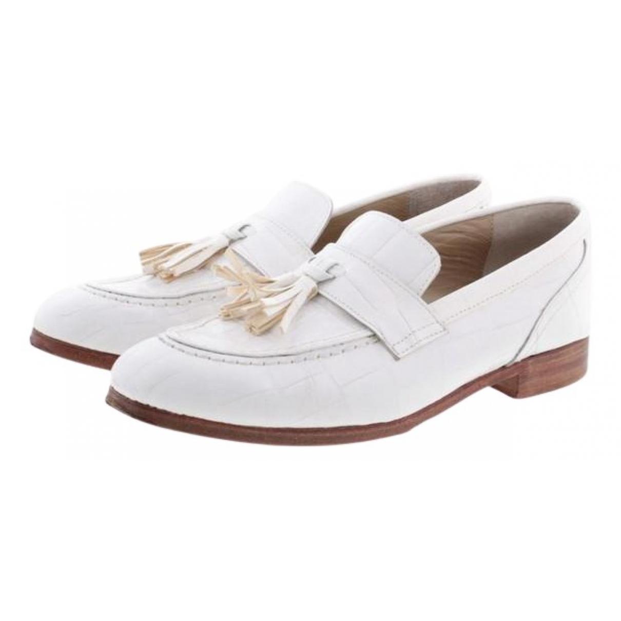 Comme Des Garcons N White Leather Lace ups for Women 38 EU