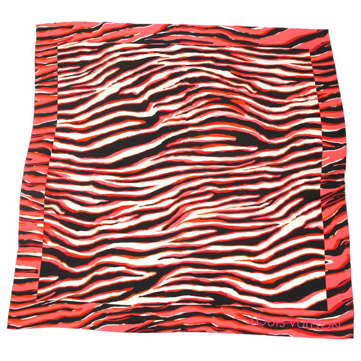 Louis Vuitton \N Schal in  Rot Seide