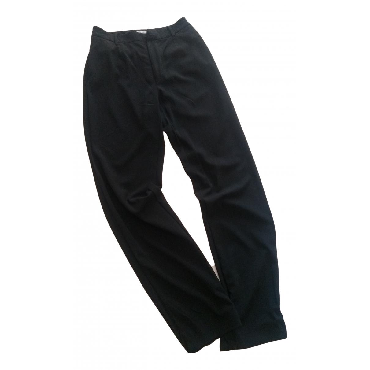 Dolce & Gabbana N Black Wool Trousers for Women 44 IT