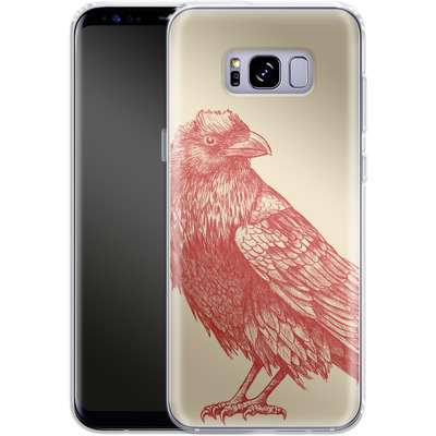 Samsung Galaxy S8 Plus Silikon Handyhuelle - Red Raven von Terry Fan