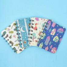 1 Pack Notizbuch mit zufaelligem Muster