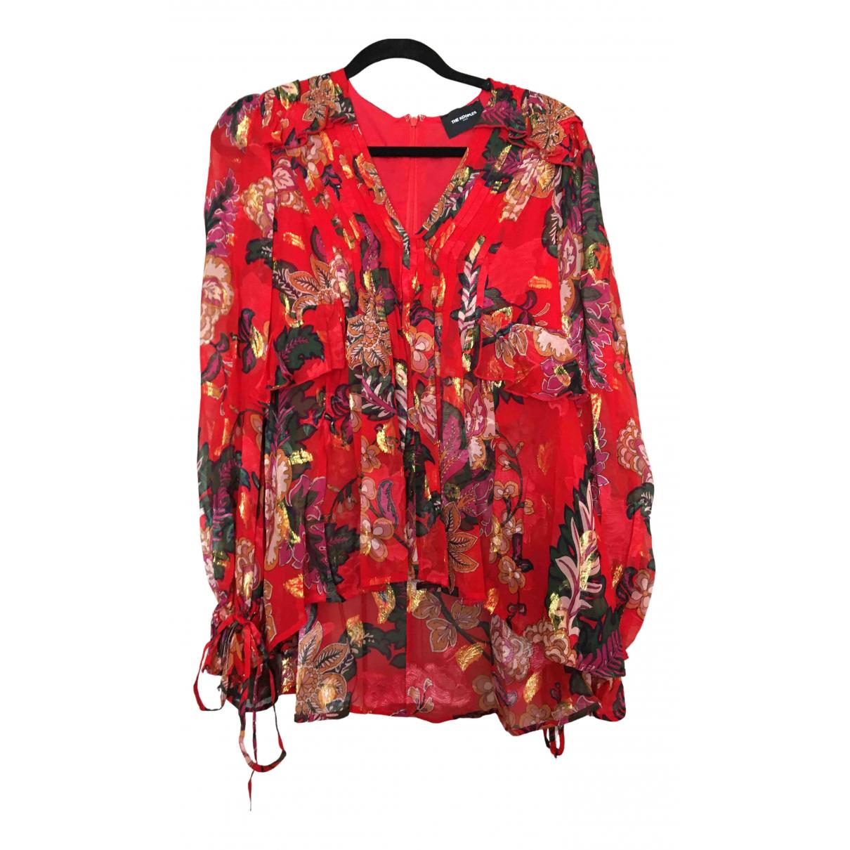 The Kooples - Top Spring Summer 2020 pour femme en soie - rouge