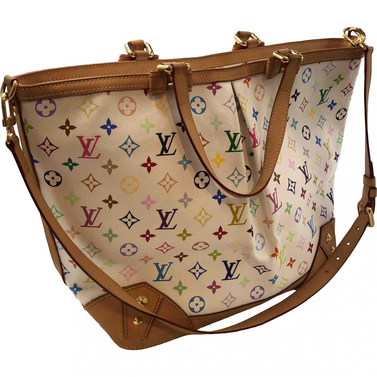 Louis Vuitton Tivoli Handtasche in  Weiss Leinen