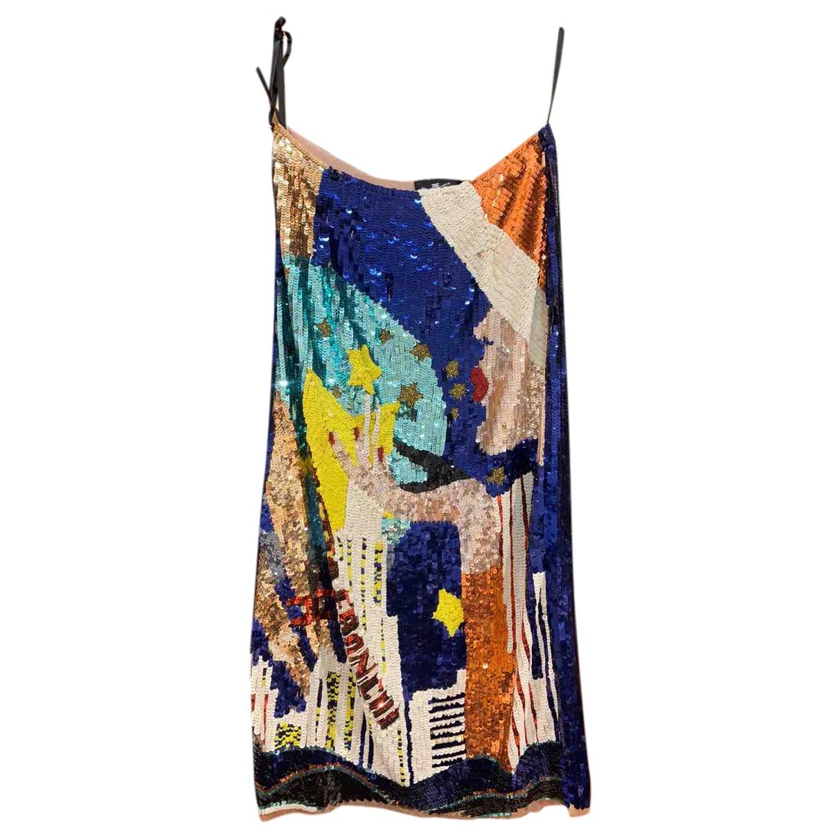 Elisabetta Franchi N Navy Glitter skirt for Women 36 FR