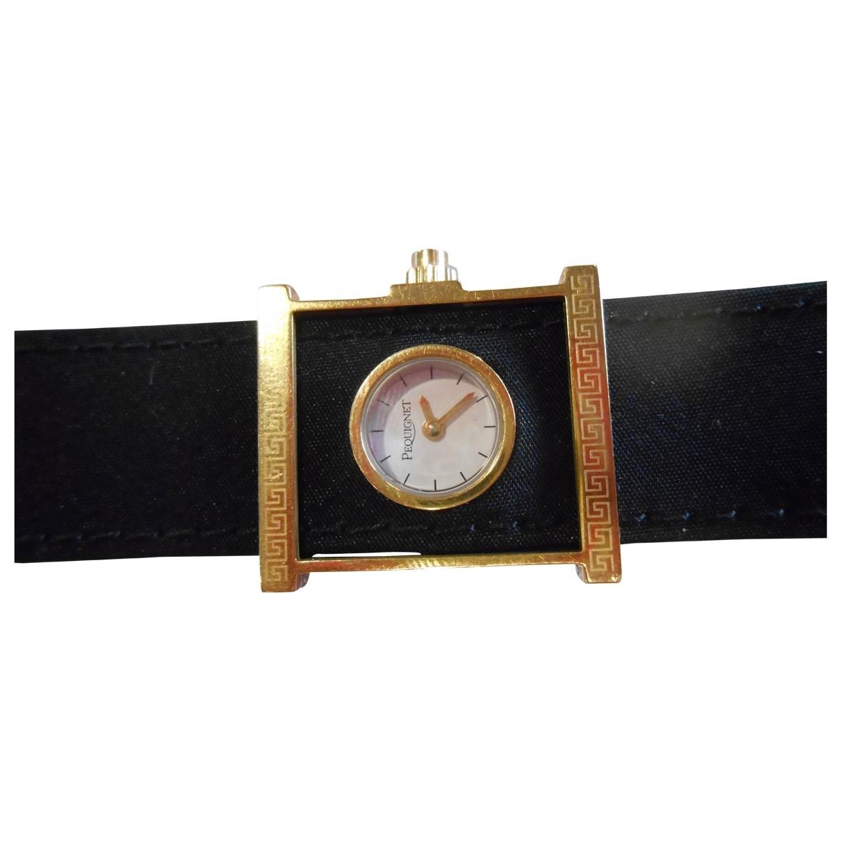 Pequignet \N Uhr in  Schwarz Stahl