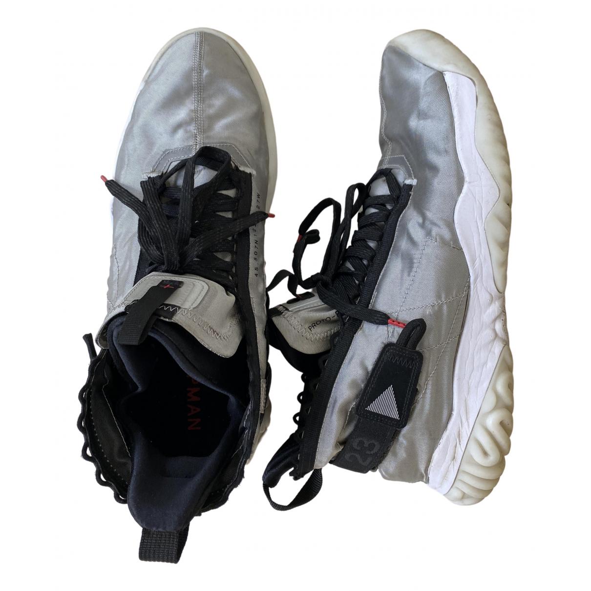 Nike - Baskets   pour homme en caoutchouc - argente