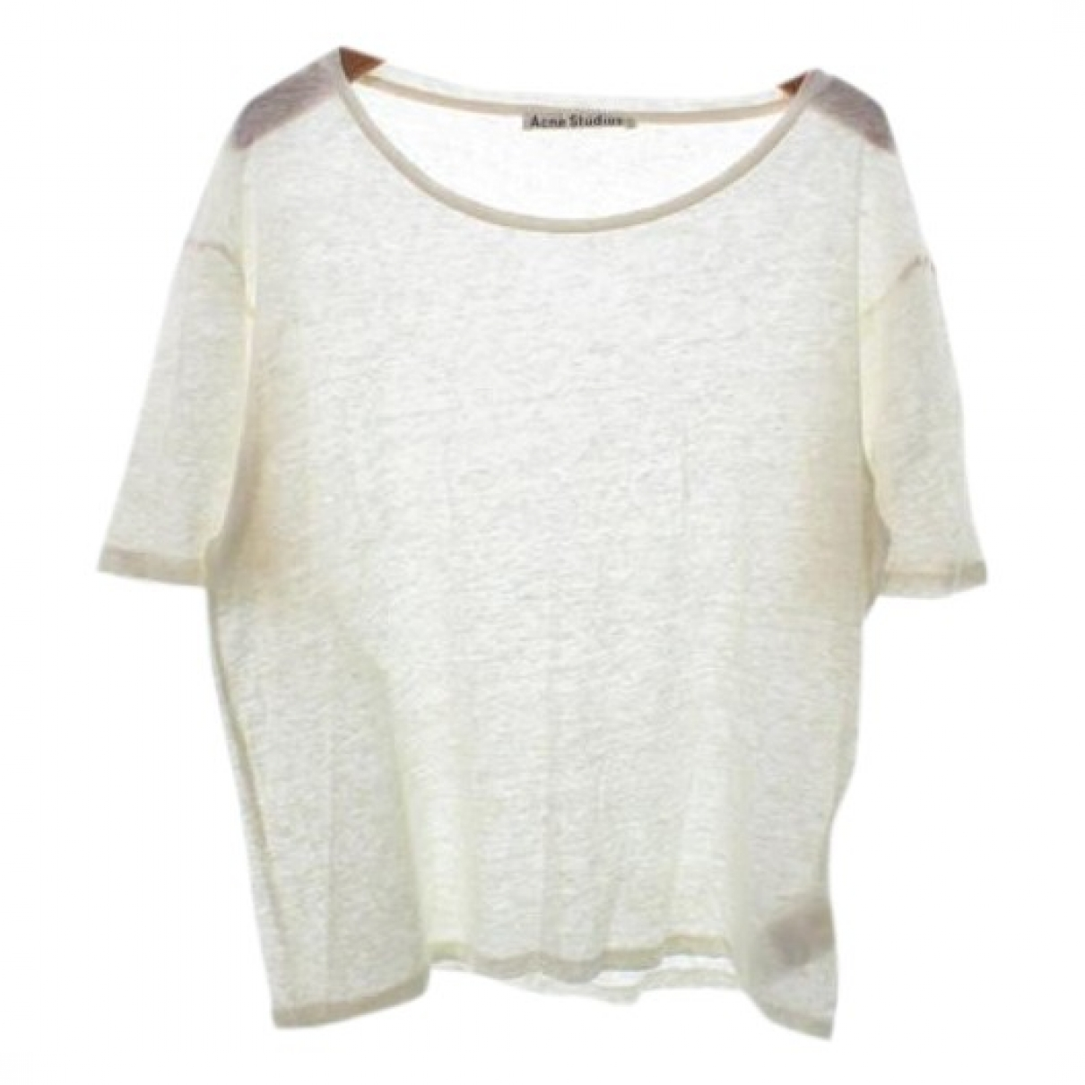 Acne Studios \N Top in  Weiss Leinen