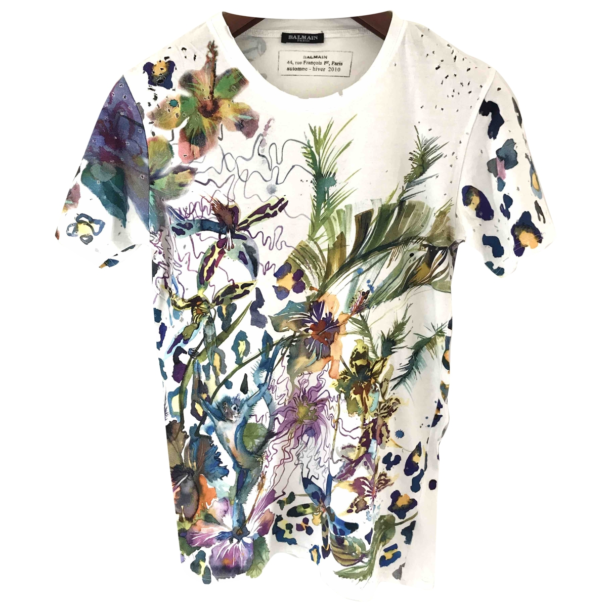 Balmain \N White Cotton T-shirts for Men S International