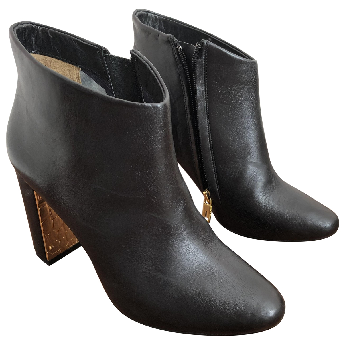 Ted Baker \N Black Leather Boots for Women 37 EU