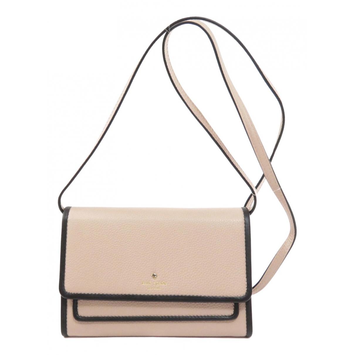 Kate Spade - Portefeuille   pour femme en cuir - beige