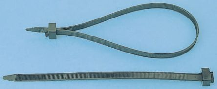 HellermannTyton , CT375 Series Black Nylon Cable Tie, 375mm x 7.6 mm