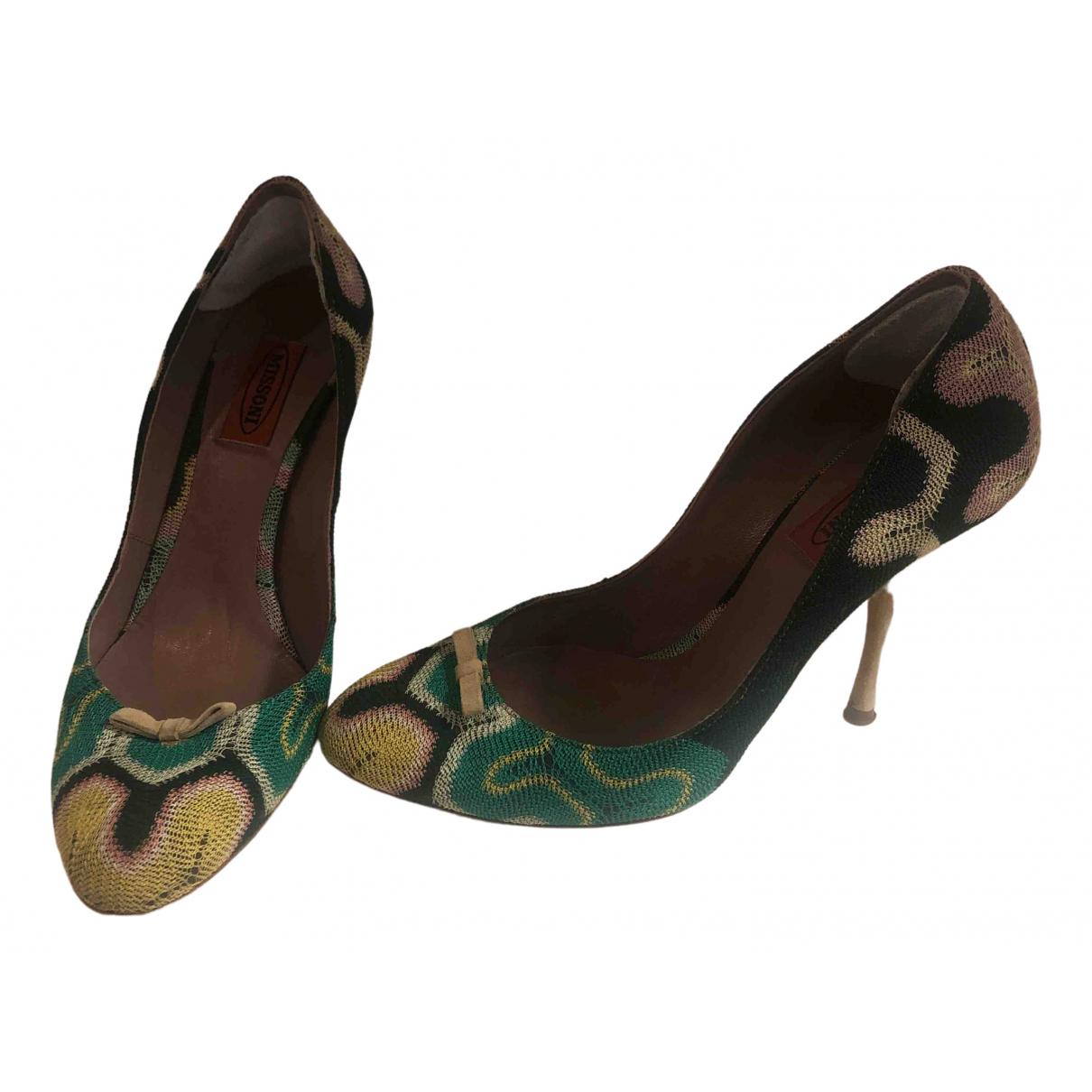 Missoni - Escarpins   pour femme en toile - vert