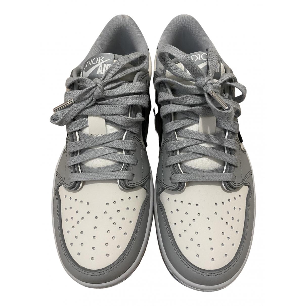 Jordan X Dior - Baskets   pour femme en cuir - blanc