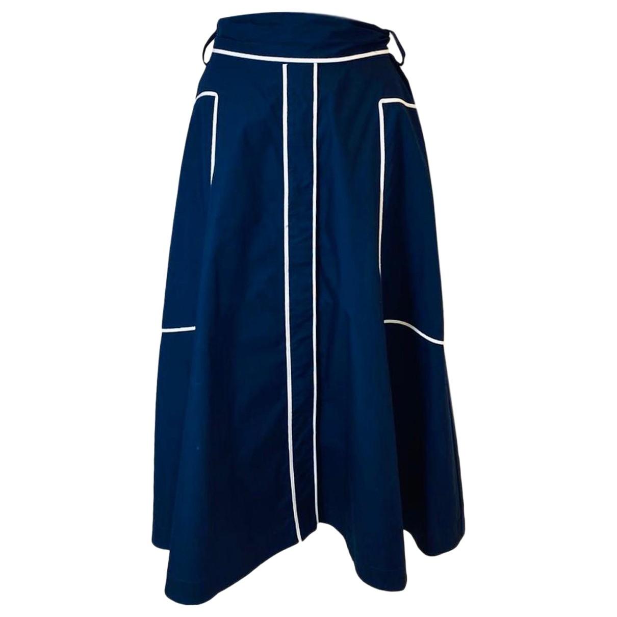Carolina Herrera \N Navy Cotton skirt for Women M International
