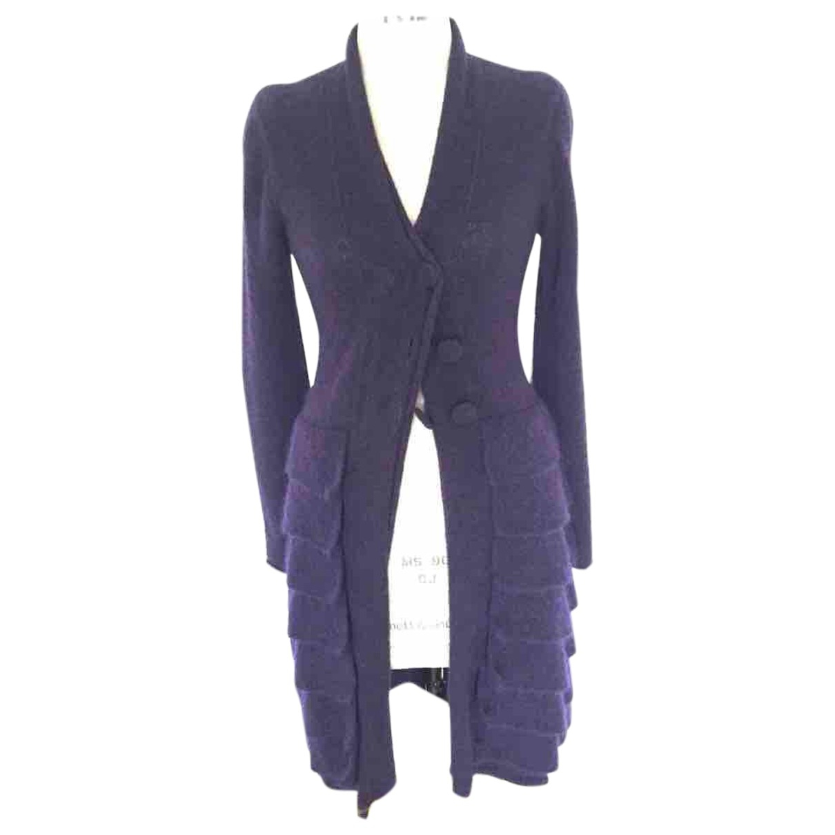 Emporio Armani \N Pullover in  Lila Wolle