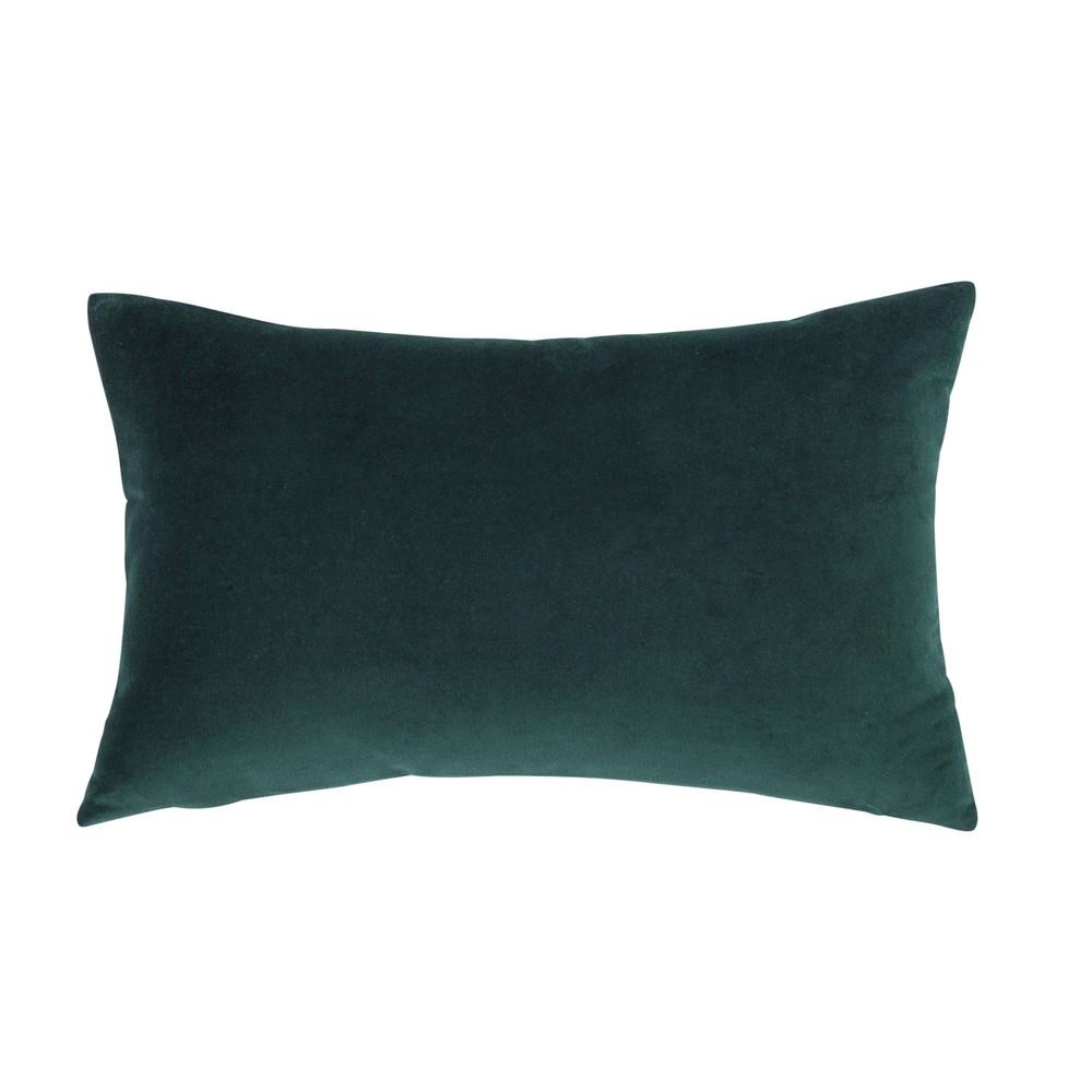 Kissen aus smaragdgruenem Samt, 30x50
