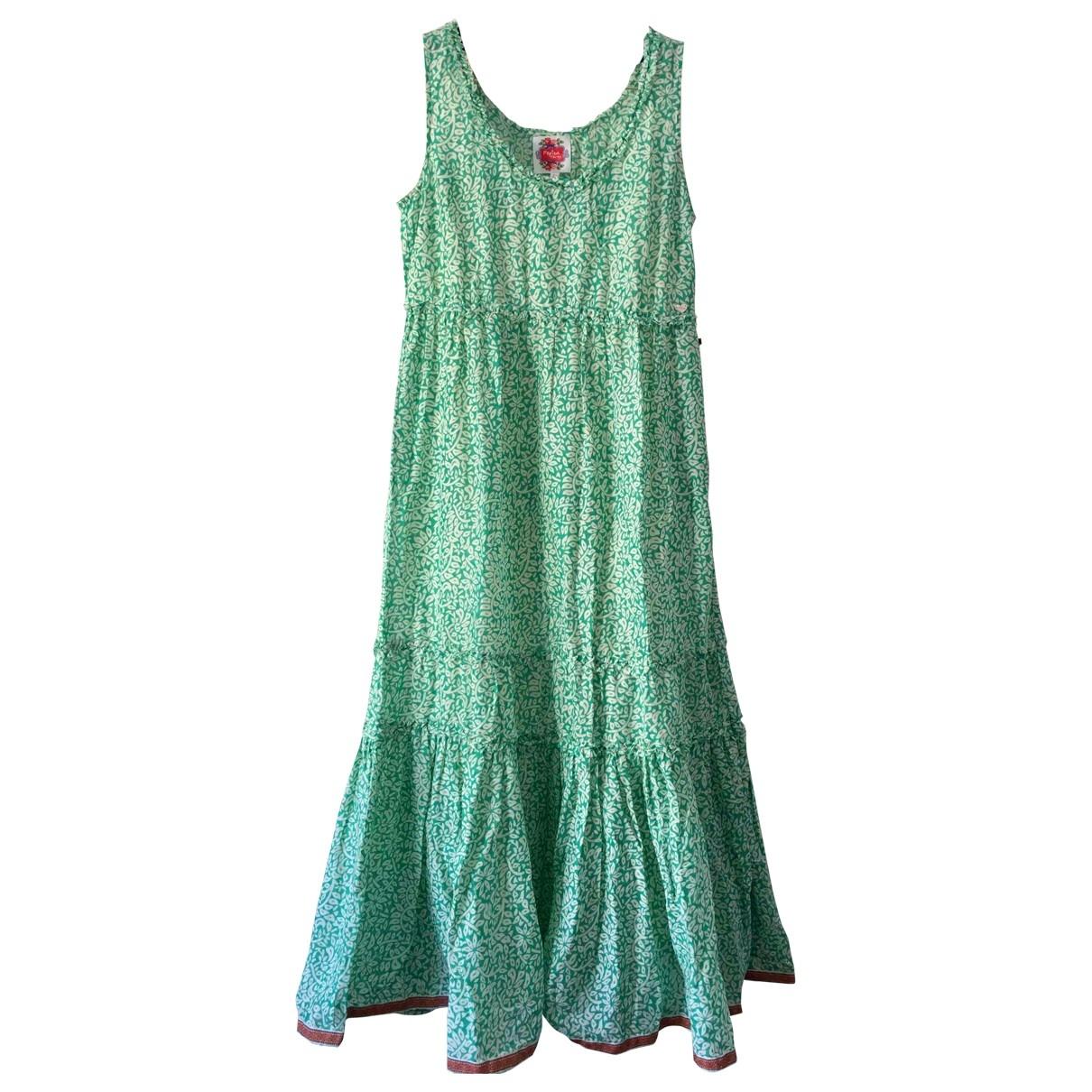 - Robe Hippie Chic pour femme en coton - vert