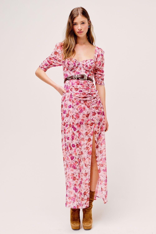 Evie Maxi Dress - Tearose
