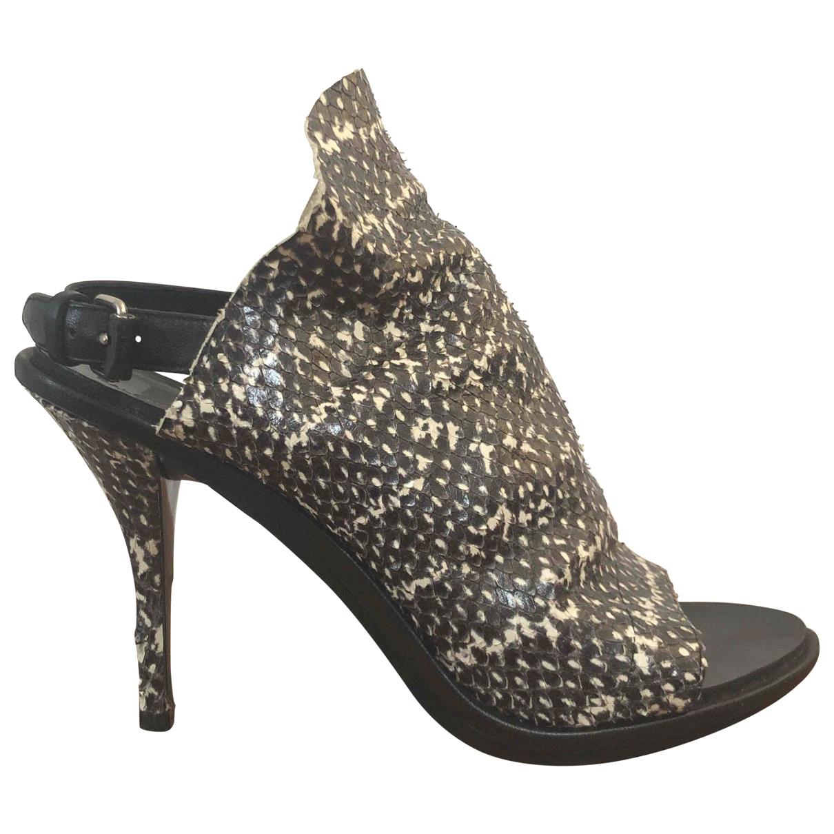 Balenciaga \N Stiefel in  Schwarz Wasserschlangen