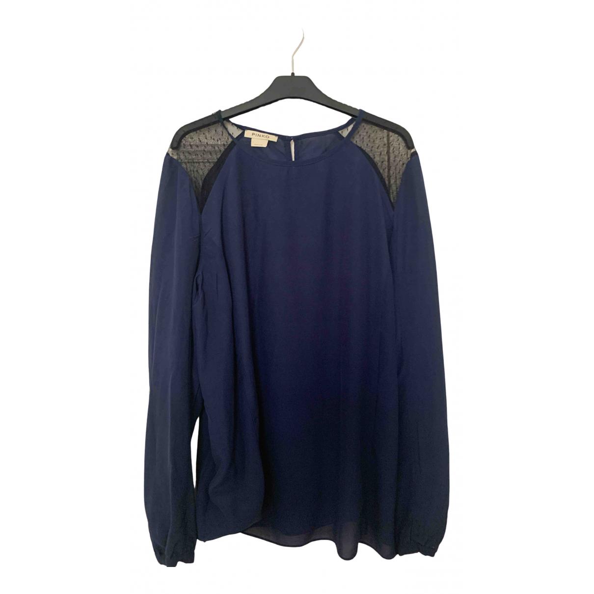 Pinko - Top   pour femme en soie - bleu