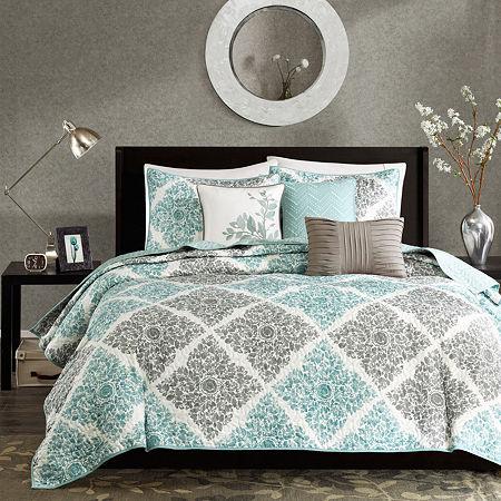 Madison Park Montecito 6-pc.Quilt Set, One Size , Blue