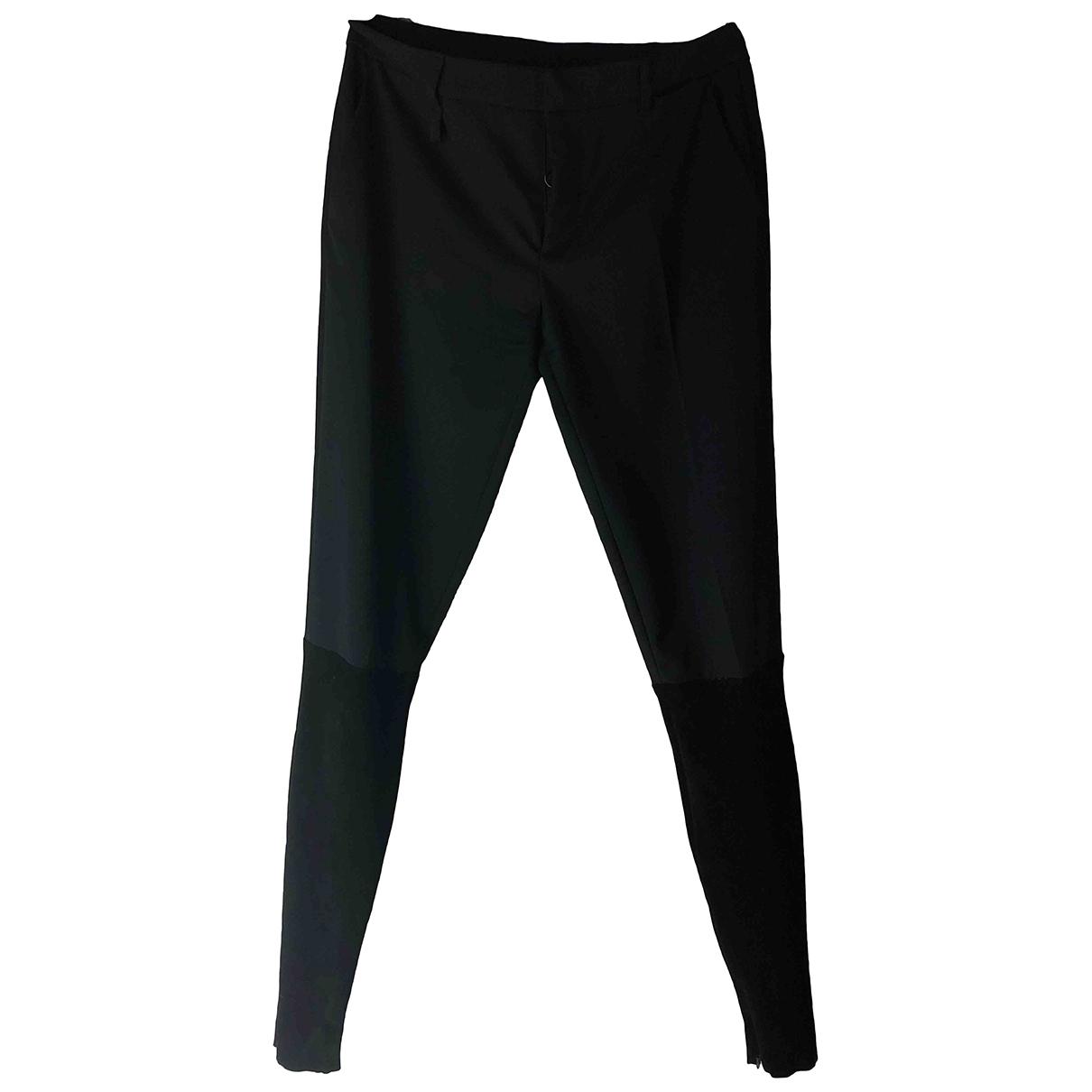 Prada \N Black Wool Trousers for Women 40 IT