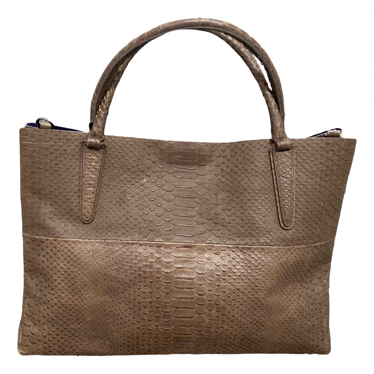 Coach Borough Bag Brown Leather handbag for Women N