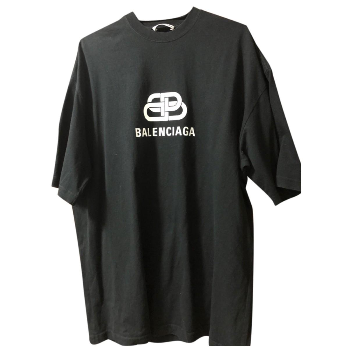 Balenciaga \N Black Cotton T-shirts for Men XS International