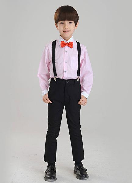 Milanoo Traje para niños de 3 piezas camisa tirantes pantalones