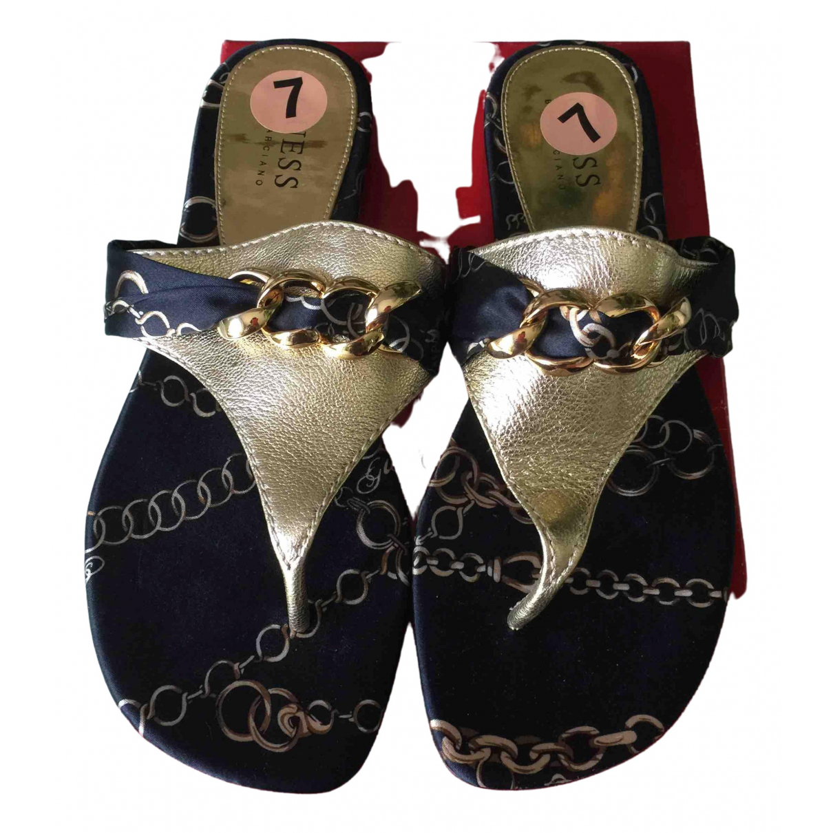 Guess - Sandales   pour femme en toile - multicolore