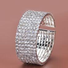 Rhinestone Decor Cuff Bracelet
