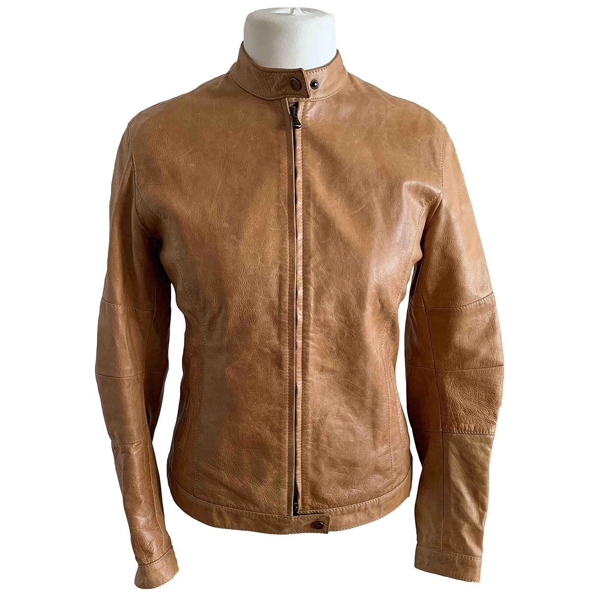 Burberry \N Beige Leather jacket for Women 40 FR