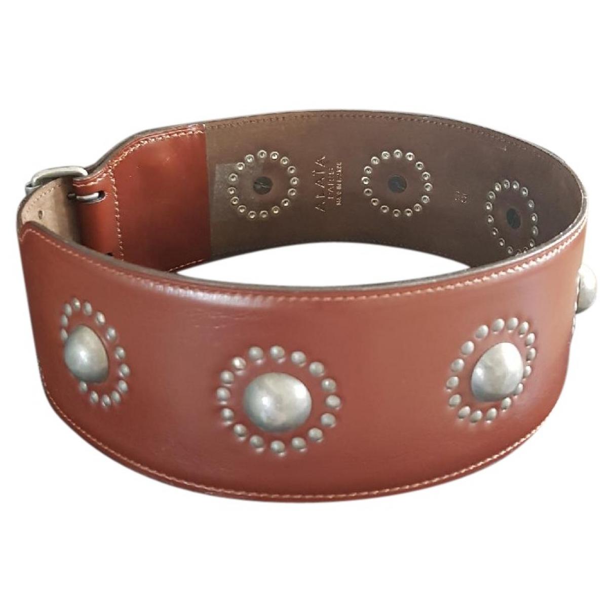 Alaïa \N Brown Leather belt for Women 70 cm
