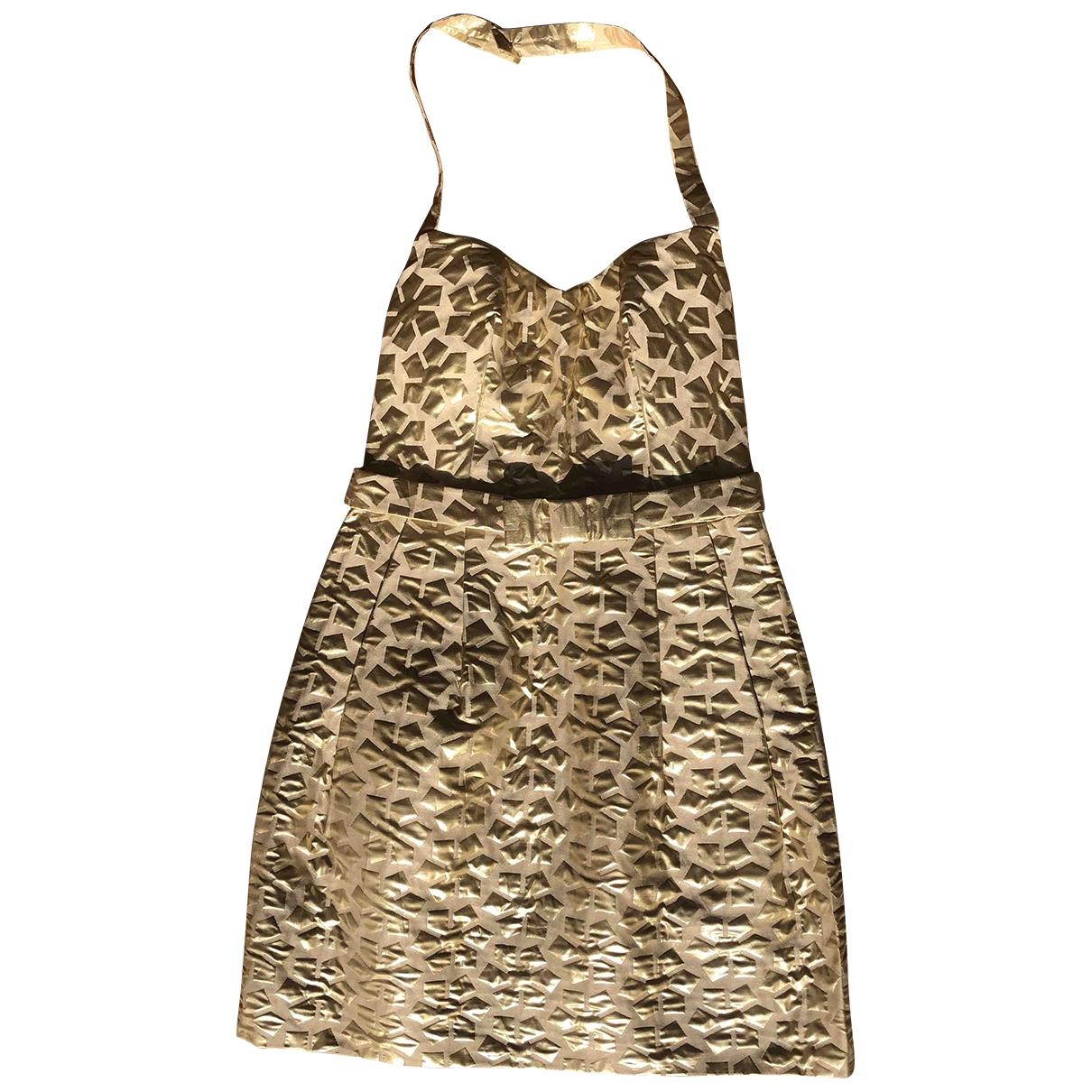 Agnes B. - Robe   pour femme en coton - dore