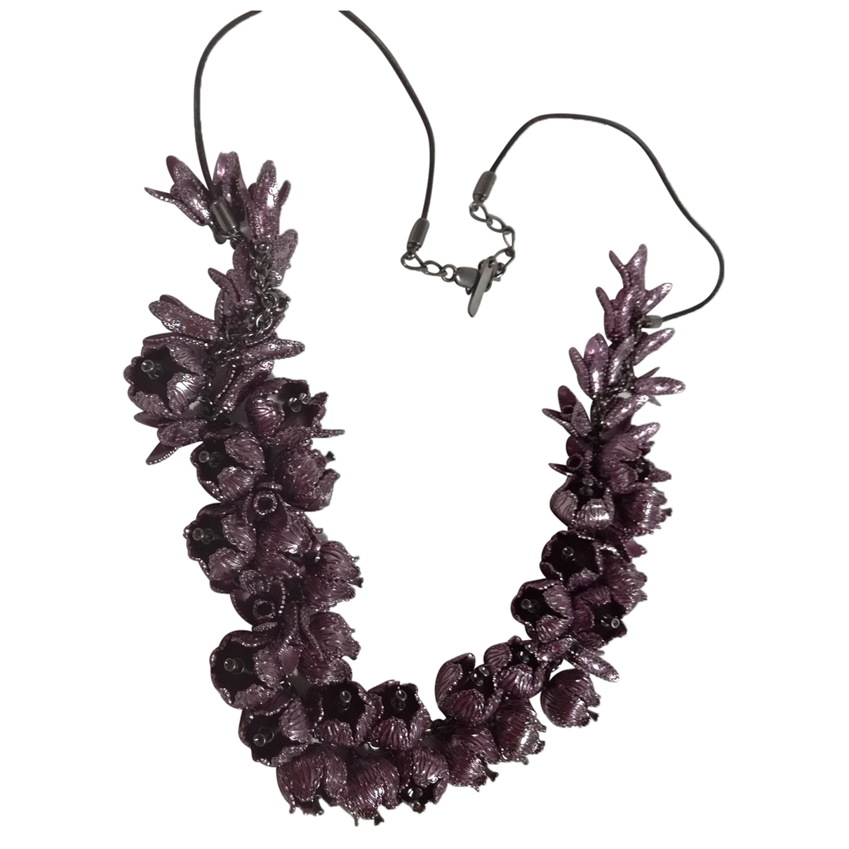 Burberry \N Purple Metal Long necklace for Women \N