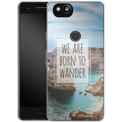 Google Pixel 2 Silikon Handyhuelle - Born to Wander von Joel Perroden