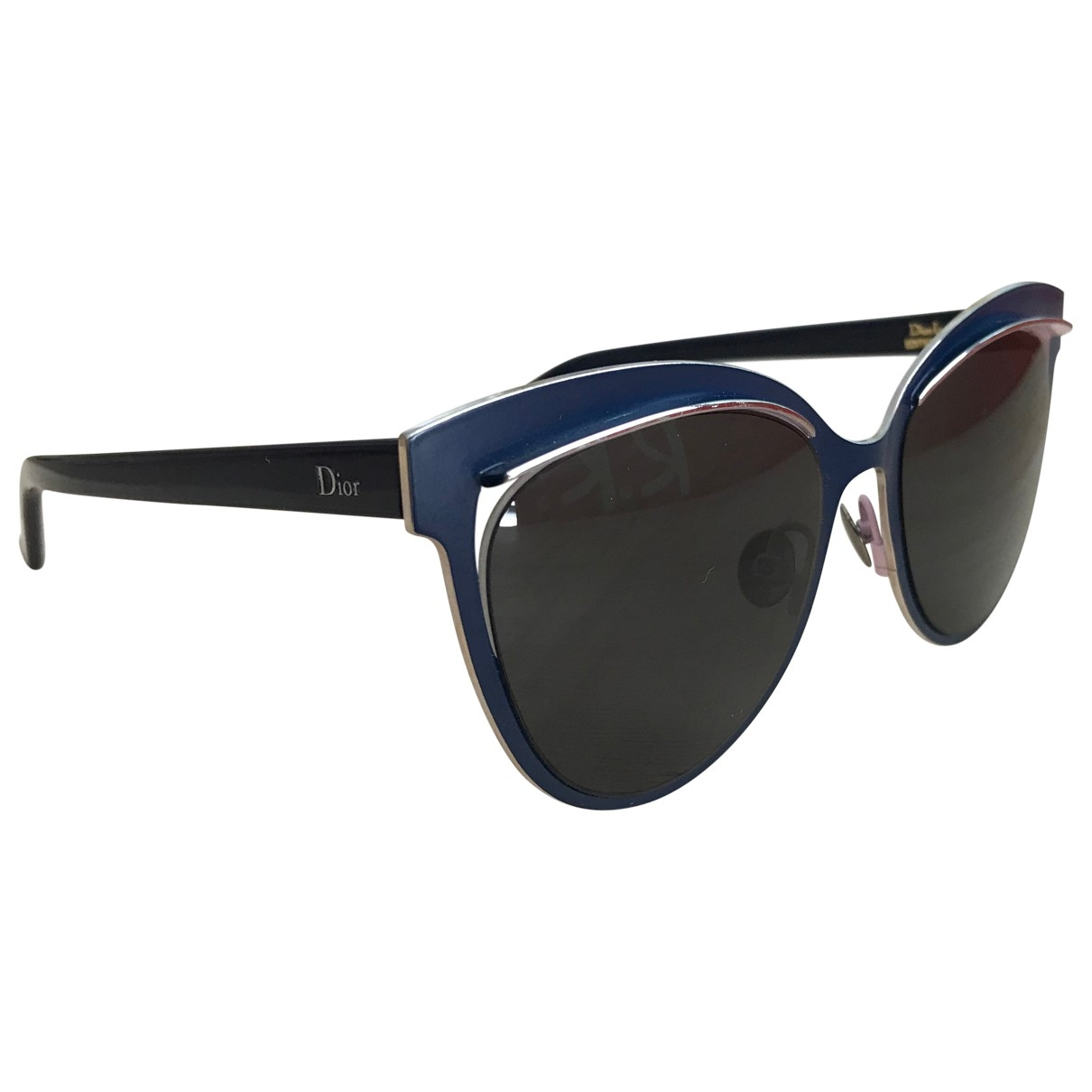 Dior \N Blue Metal Sunglasses for Women \N