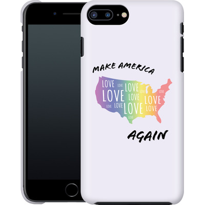 Apple iPhone 7 Plus Smartphone Huelle - Make America Love Again von caseable Designs
