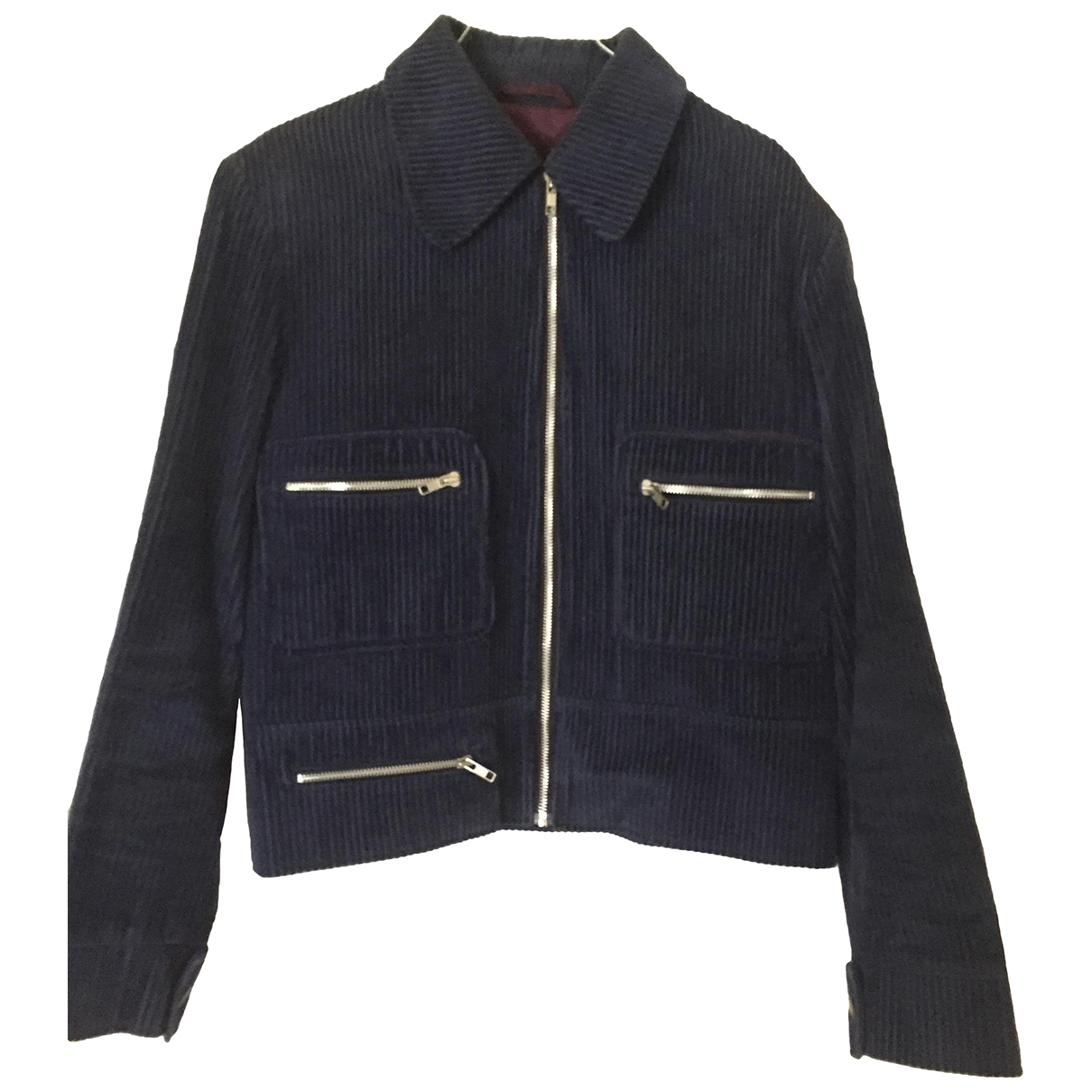 Non Signé / Unsigned \N Blue Velvet jacket  for Men 46 UK - US