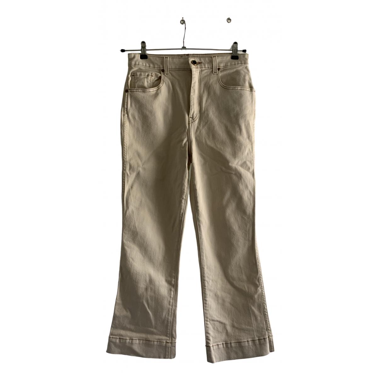 Khaite - Jean   pour femme en coton - elasthane - beige