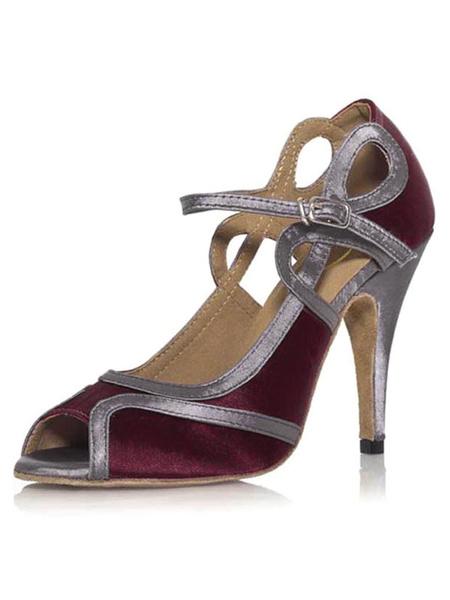 Milanoo Zapatos de bailes latinos morados