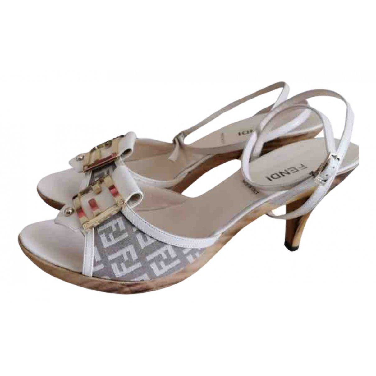 Fendi N Beige Cloth Mules & Clogs for Women 6 UK